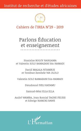 Couverture Parlons Education et enseignement