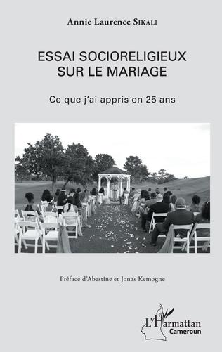 Couverture Essai socioreligieux sur le mariage
