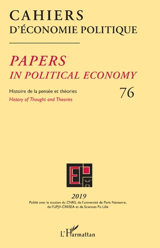 Couverture Cahiers d'Économie Politique 76