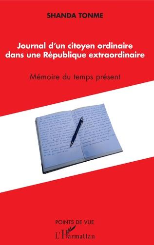 Couverture Journal d'un citoyen ordinaire dans une République extraordinaire