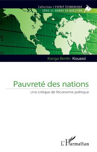 Couverture Pauvreté des nations