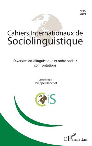 Couverture Diversité sociolinguistique et ordre social : confrontations
