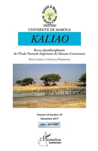 Couverture Kaliao 10 revue pluridisciplinaire de l'Ecole Normale Supérieure de Maroua (Cameroun)