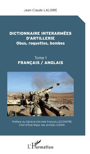 Couverture Dictionnaire interarmées d'artillerie