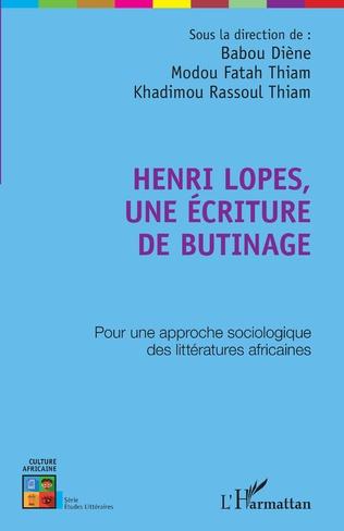 Couverture Henri Lopes, une écriture de butinage
