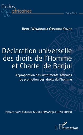 Couverture Déclaration universelle des droits de l'Homme et Charte de Banjul