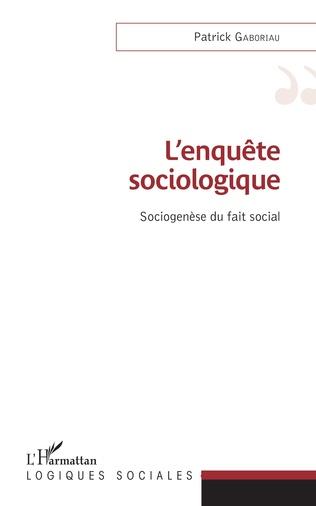 Couverture L'enquête sociologique