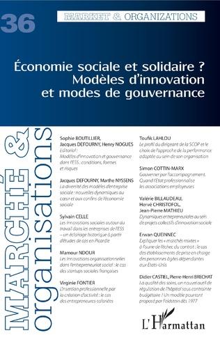 Couverture Economie sociale et solidaire ? Modèles d'innovation et modes de gouvernance