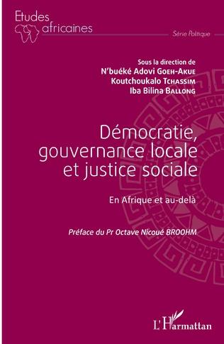Couverture Démocratie, gouvernance locale et justice sociale