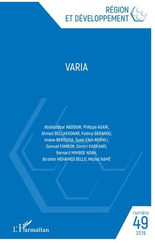 Couverture Varia 49