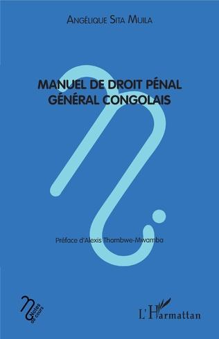Couverture Manuel de droit pénal général congolais