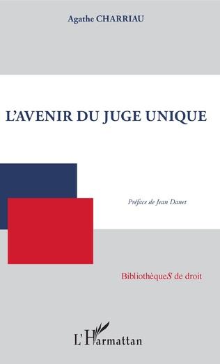 Couverture L'avenir du juge unique