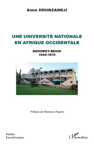 Couverture Une université nationale en Afrique occidentale