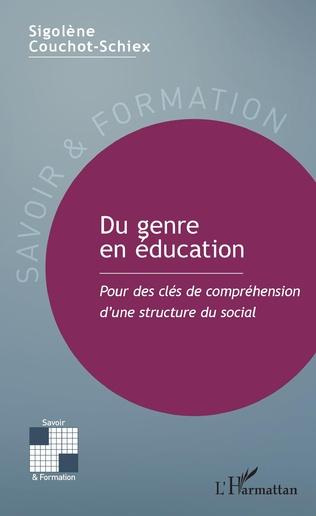 Couverture Du genre en éducation
