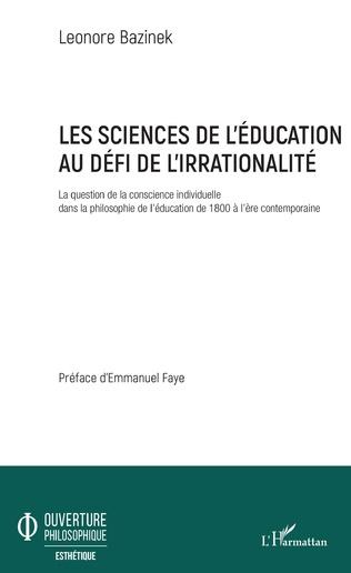 Couverture Les sciences de l'éducation au défi de l'irrationalité