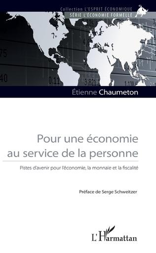 Couverture Pour une économie au service de la personne