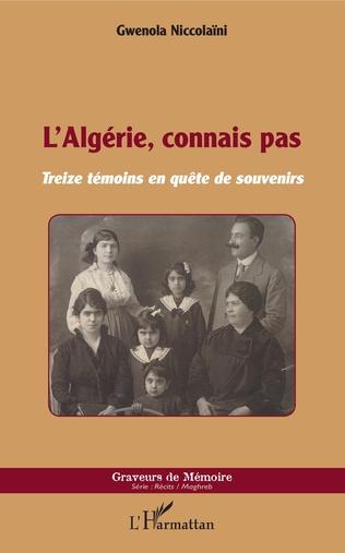 Couverture L'Algérie, connais pas