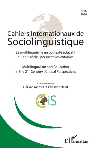 Couverture Cahiers internationaux de Sociolinguistinque n°16