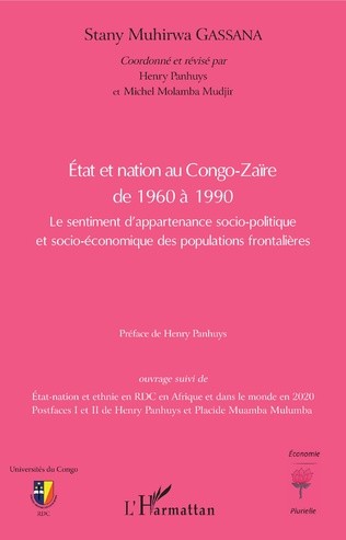 Couverture Etat et nation au Congo-Zaïre de 1960 à 1990