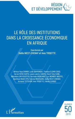 Couverture Le rôle des institutions dans la croissance économique en Afrique
