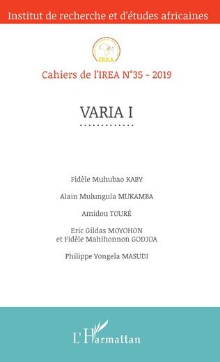 Couverture Varia I