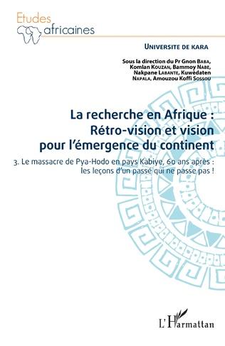 Couverture La recherche en Afrique Tome 3 : rétro-vision et vision pour l'émergence du continent