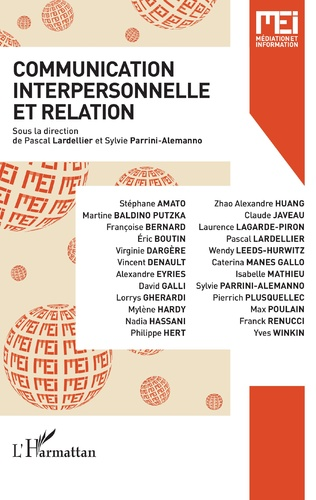 Couverture Communication interpersonnelle et relation