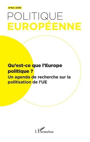Couverture Qu'est-ce que l'Europe politique ?