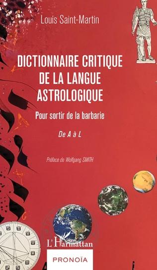 Couverture Dictionnaire critique de la langue astrologique
