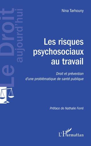 Couverture Les risques psychosociaux au travail