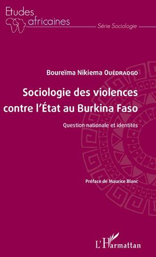 Couverture Sociologie des violences contre l'État au Burkina Faso