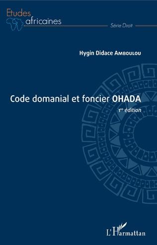 Couverture Code domanial et foncier OHADA