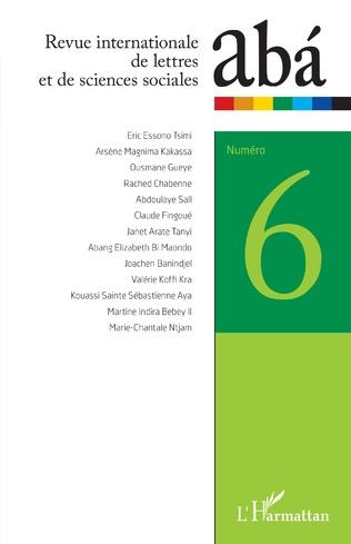 Couverture Revue internationale de lettres et de sciences sociales abá n°6