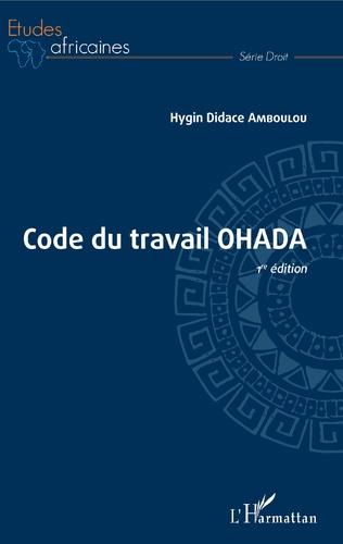 Couverture Code du travail OHADA 1ère édition
