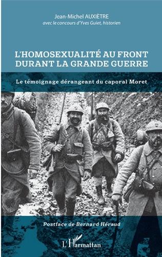 Couverture L'homosexualité au front durant la Grande Guerre