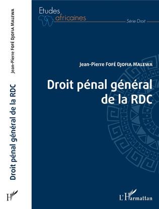 Couverture Droit pénal général de la RDC