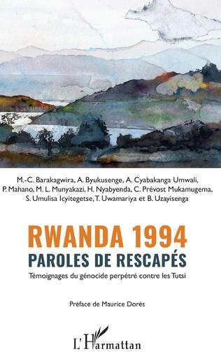 Couverture Rwanda 1994 Paroles de rescapés