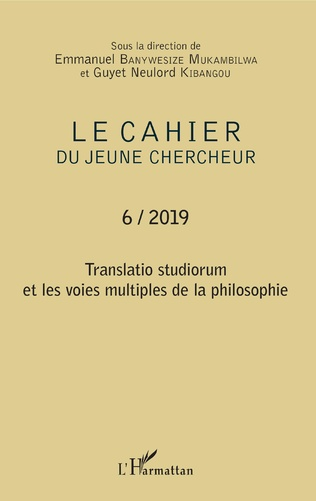Couverture Translatio studiorum et les voies multiples de la philosophie