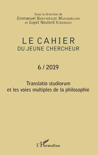 Couverture Translatio studiorum et les voies multiples de la philosophie