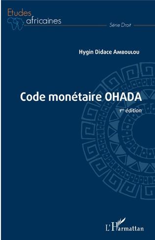 Couverture Code monétaire OHADA