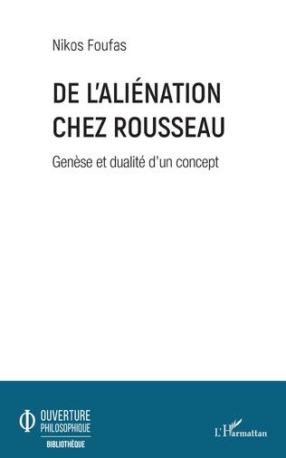 Couverture De l'aliénation chez Rousseau