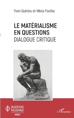 Couverture Le matérialisme en questions