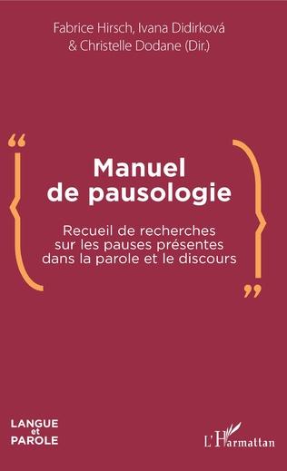 Couverture Manuel de pausologie