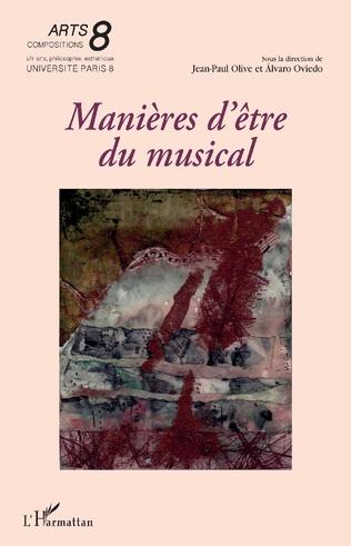 Couverture Manières d'être du musical