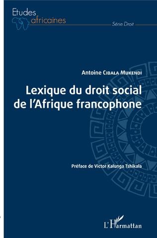 Couverture Lexique du droit social de l'Afrique francophone