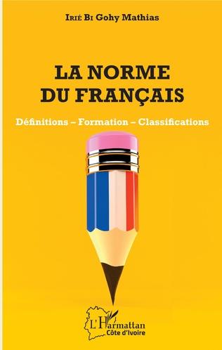 Couverture La norme du français