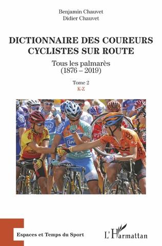 Couverture Dictionnaire des coureurs cyclistes sur route
