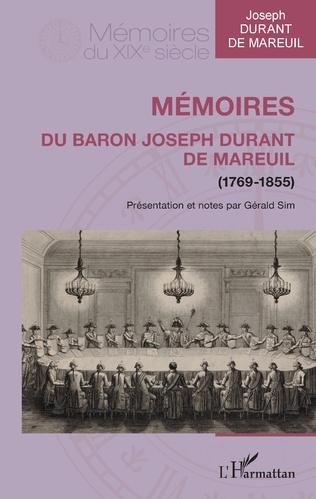 Couverture Mémoires du baron Joseph Durant de Mareuil