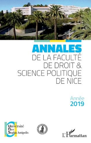 Couverture Annales de la faculté de droit & science politique de Nice