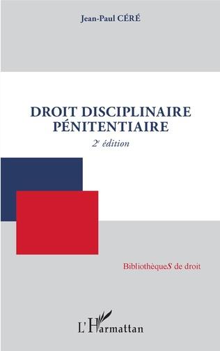Couverture Droit disciplinaire pénitentiaire